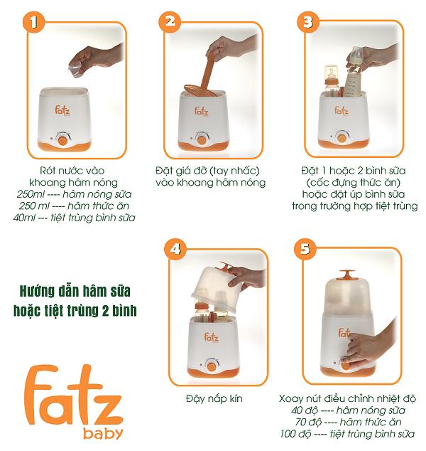 cách sử dụng máy hâm sữa và tiệt trùng