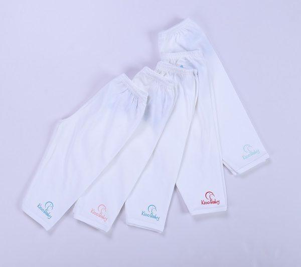 quần dài sơ sinh trắng